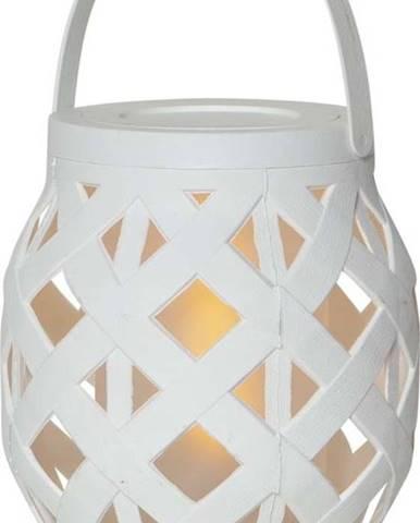 Bílá lucerna Star Trading Flame Lantern, 14 x 16 cm