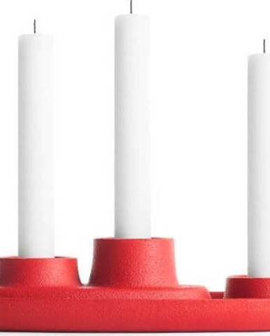 Červený svícen EMKO Aye Aye Three Candles
