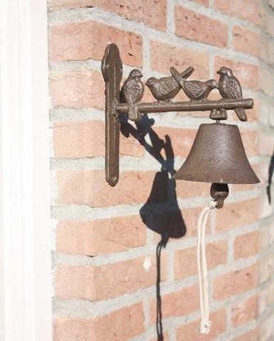 Litinový nástěnný zvonek s dekorativními ptáčky EsschertDesign