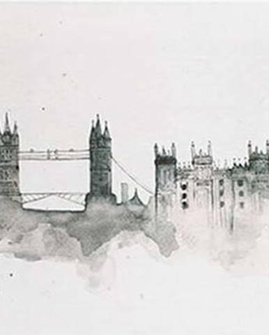 Obraz Graham & Brown London Watercolour,120x50cm