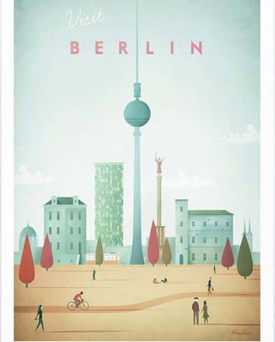 Plakát Travelposter Berlin, A2