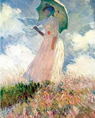 Reprodukce obrazu Claude Monet - Woman with Sunshade, 45 x 30 cm