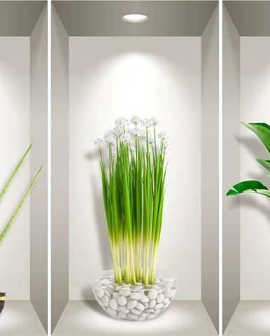 Sada 3 3D samolepek na zeď Ambiance Plants of the Tropics