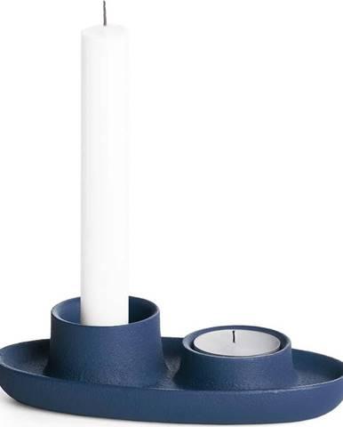 Tmavě modrý svícen EMKO Aye Aye Two Candles