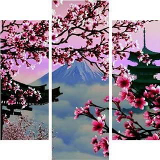 Vícedílný obraz Japan View, 92x56 cm