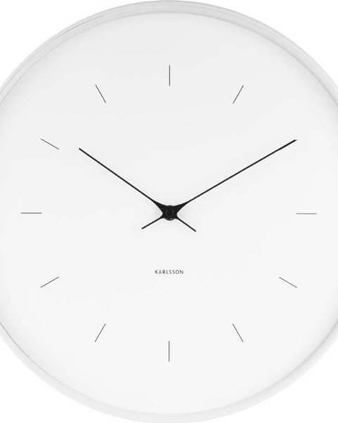 Karlsson Bílé nástěnné hodiny Karlsson Butterfly, Ø 37,5 cm