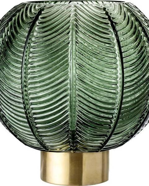 Bloomingville Zelená skleněná váza Bloomingville