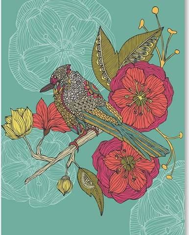 Autorský plakát Contented Constance od Valentiny Ramos