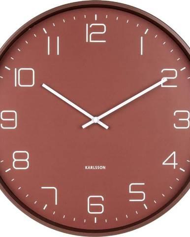 Červené nástěnné hodiny Karlsson Lofty,ø40cm