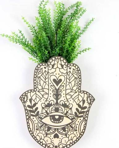 Nástěnný květináč z bukového dřeva Surdic Fatima Hand