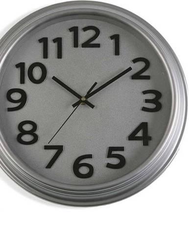 Šedé nástěnné hodiny Versa In Time, ⌀ 32,7 cm