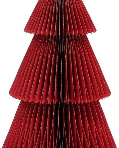 Třpytivě červená papírová vánoční ozdoba ve tvaru stromu Only Natural, výška 22,5 cm