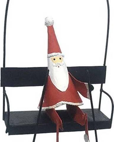 Vánoční závěsná dekorace G-Bork Santa In Ski Lift