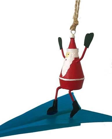 Vánoční závěsná ozdoba G-Bork Santa on Airplane