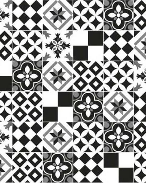Ambiance Sada 24 nástěnných samolepek Ambiance Wall Decal Cement Tiles Azulejos Yanga, 10 x 10 cm