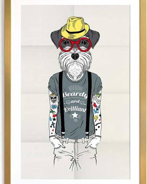 Really Nice Things Zarámovaný plakát Really Nice Things Hipster Dog, 65 x 45 cm
