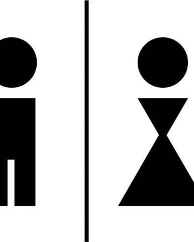 Černá samolepka Ambiance Man And Woman Restroom