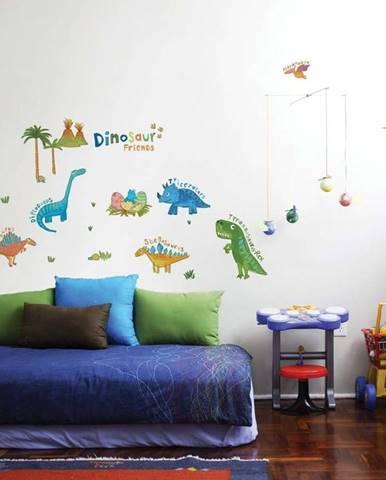 Nástěnná samolepka Ambiance Colourful Dino