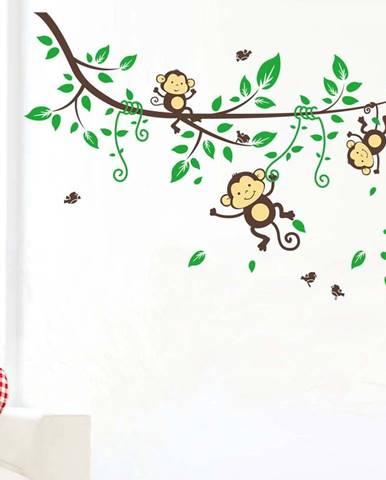 Nástěnná samolepka Ambiance Monkeys on Tree