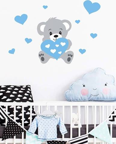 Nástěnná samolepka Ambiance Teddy Blue