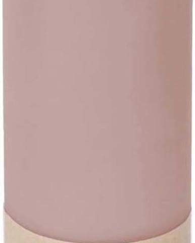 Pudrově růžová svíčka Eco candles by Ego dekor Friendly, doba hoření 60h