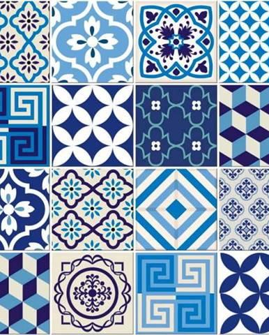 Sada 24 dekorativních samolepek na stěnu Ambiance Lendro, 10 x 10 cm