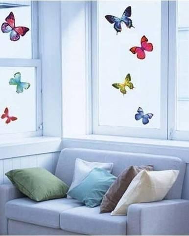 Sada 26 samolepek Ambiance Exotic Butterflies