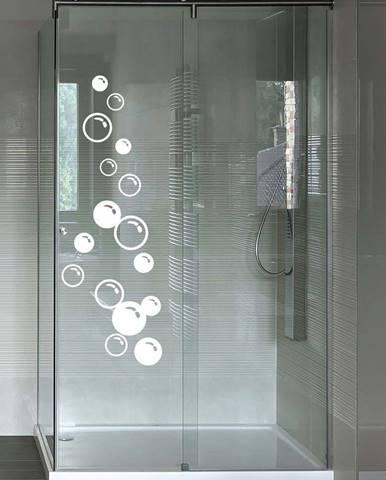 Samolepka na dveře od sprchy Ambiance Soap Bubbles, 30 x 80 cm