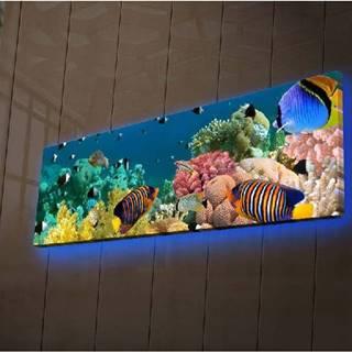 Podsvícený obraz Shining Sea, 90x30cm