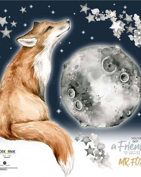 Dekornik Nástěnná samolepka s liškou Dekornik Mr. Fox