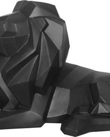 Matně černá soška PT LIVING Origami Lion