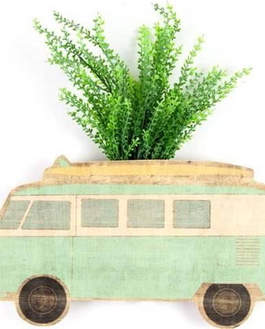 Nástěnný květináč z bukového dřeva Surdic Caravan
