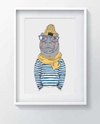 Obraz Tablo Center Hippo, 24x29cm