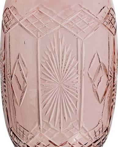 Růžová skleněná váza Bloomingville Ornaments