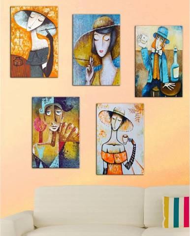 Sada 5 obrazů Tablo Center Modern Woman