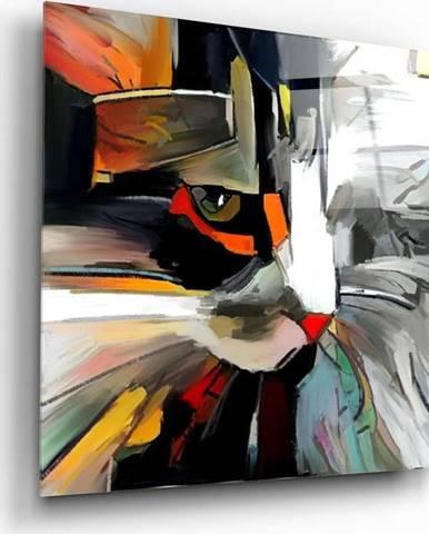 Skleněný obraz Insigne Abstract Cat,60 x60cm