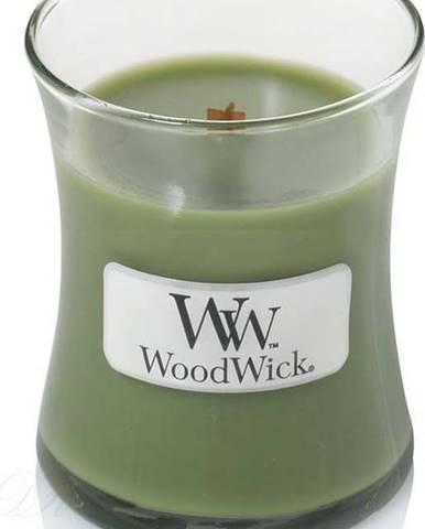 Vonná svíčka WoodWick Vůně jehličí, 20 hodin hoření