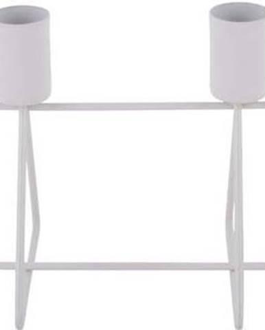 Bílý svícen na 4 svíčky PT LIVING, délka40cm