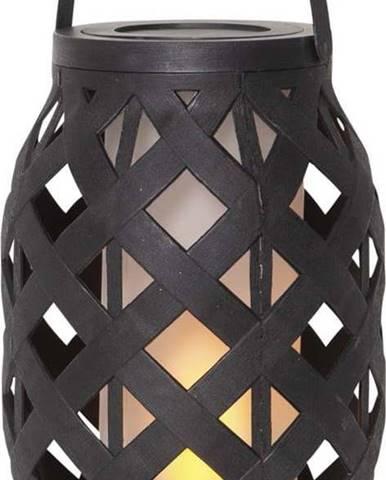 Černá lucerna Star Trading Flame Lantern, 15 x 23 cm