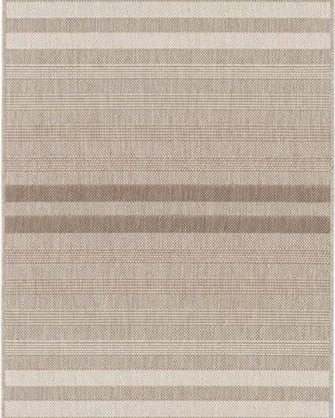 Bougari Červeno-krémový venkovní koberec Bougari Paros, 80 x 200 cm