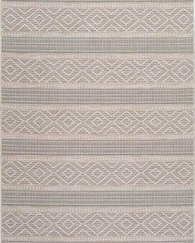 Béžový venkovní koberec Universal Cork Lines, 155 x 230 cm
