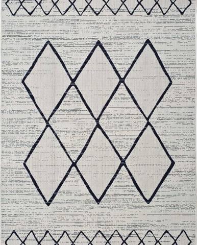 Bílošedý venkovní koberec Universal Elba, 140 x 200 cm