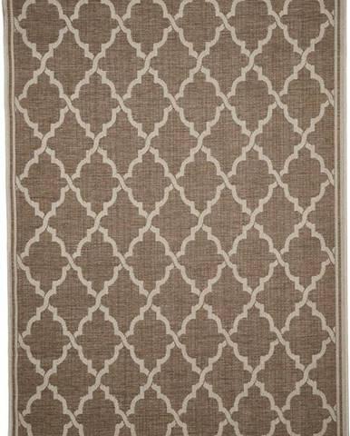 Hnědý venkovní koberec Floorita Intreccio, 135 x 190 cm