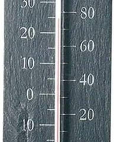 Nástěnný břidlicový venkovní teploměr Ego Dekor Plain, 45x10cm