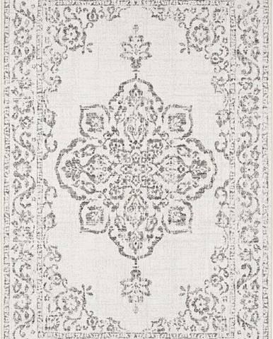 Šedo-krémový venkovní koberec Bougari Tilos, 160 x 230 cm