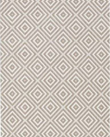 Šedý venkovní koberec Bougari Karo, 80x150cm