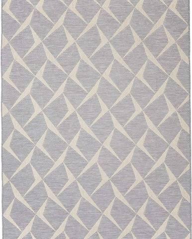 Šedý venkovní koberec Floorita Rete, 130 x 190 cm