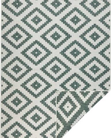 Zeleno-krémový venkovní koberec Bougari Malta, 80x150 cm