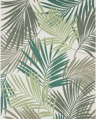 Zeleno-šedý venkovní koberec Bougari Vai, 80 x 150 cm