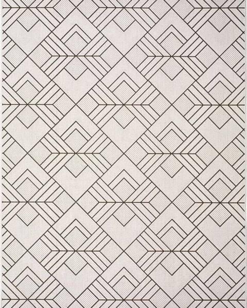 Universal Bílobéžový venkovní koberec Universal Silvana Caretto, 80x150cm